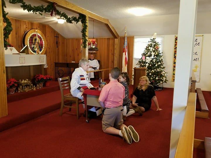 Family Christmas service.