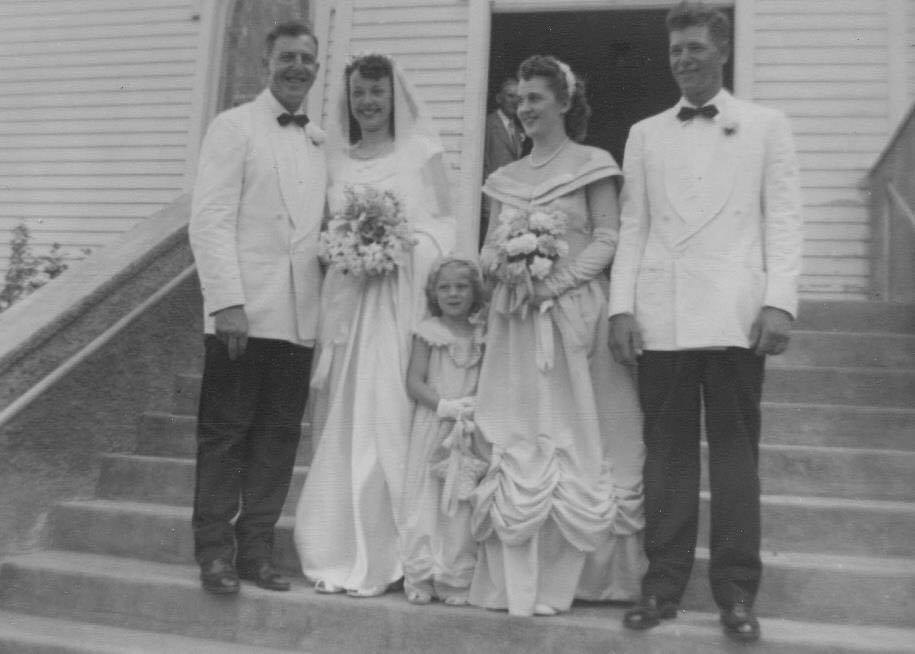 """.....My parents wedding, 68 years ago. <3  She offered it to me when I was to be married. I excitedly accepted. I had the chain enlarged and wore it as a necklace.   Flash forward about 20 years and I offered the same opportunity to my beautiful niece Laura. She chose to have the florist secure the chain in the ribbon on her bouquet.  She now has the necklace, a keepsake that will be offered to future generations in my family.  What a wonderful gift for a shower, a birth, baptism, first communion or my favorite....""""just because""""."""