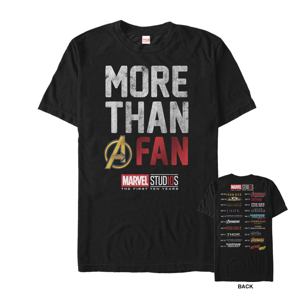 More than a Fan? - Check out this cool front and back Marvel tee!