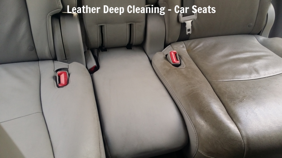Professional Leather Cleaning Service Montreal Car Seat