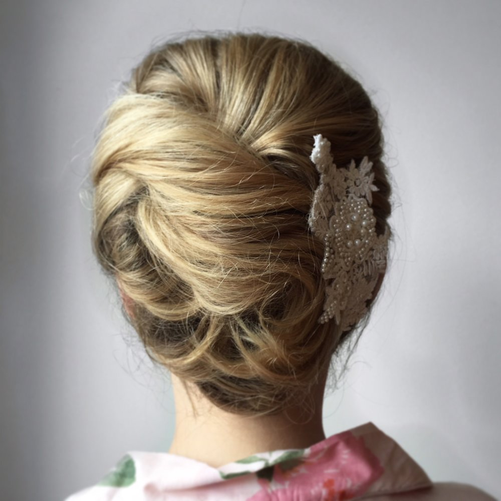 Weddings and bridal parties - Whether you're a bride, bridesmaid, or attendee, you want to look flawless on the big day. We've done hair for countless weddings around the Triangle (and beyond), as well as editorial styling for magazines and photoshoots. Learn more ➝