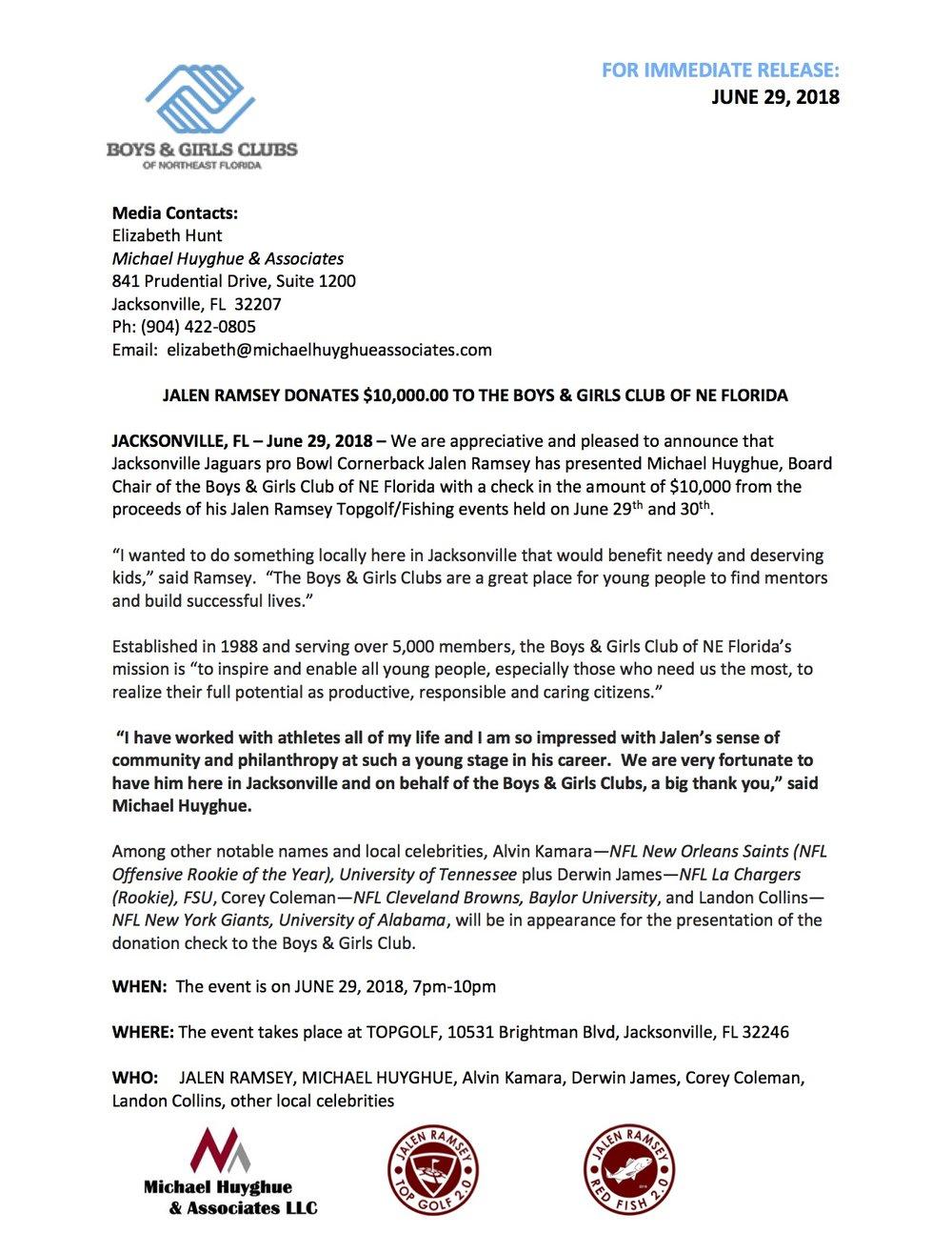 Press Release-Jalen Ramsey $10k check to Boys & Girls Club.jpg