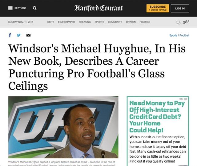 Thank you @hartfordcourant for featuring my book! To read the full article, click the link in my bio. Be sure to get your copy of Behind the Line of Scrimmage available now through @amazon @barnesandnoble and other major retailers! #hartfordcourant #behindthelineofscrimmage #NFL