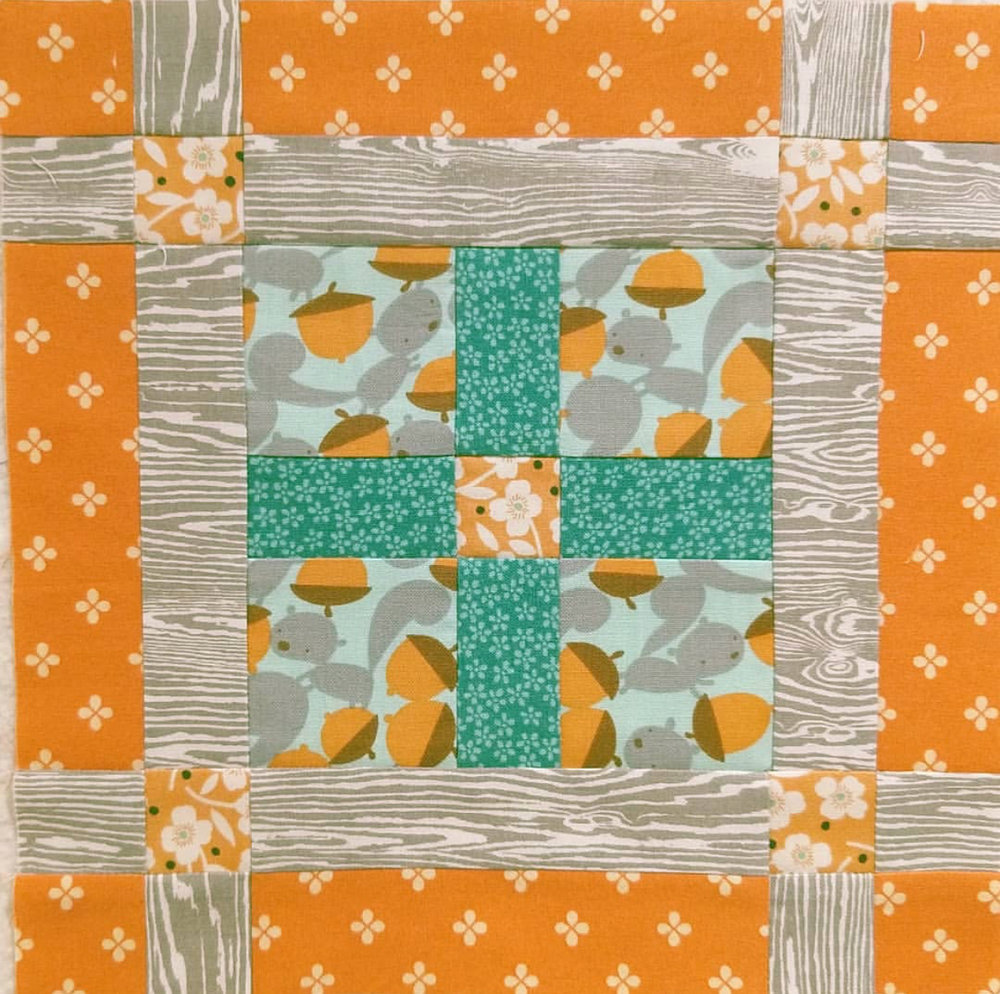 @sarahminshall  has been playing fussy cutting catch up, and this week she was all caught up!! I totally love the theme she worked through this block with the trees, flowers and squirrels!
