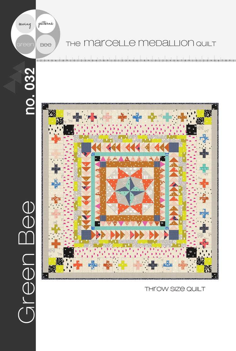 The  Marcelle Medallion quilt  is available as a stand along pattern, and it's worth every penny.