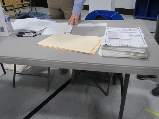 #1. Pick up ballot, Sharpie, and privacy folder first.