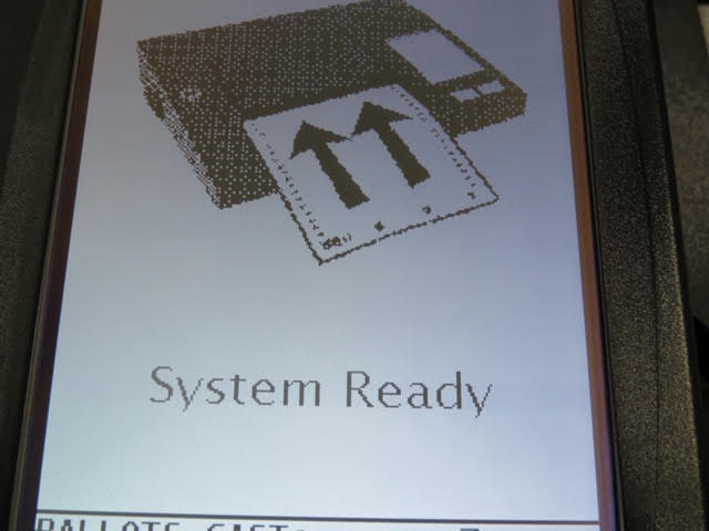 13. System Ready for the next voter! Don't forget to return your Sharpie and privacy folder. Thank you for voting!!