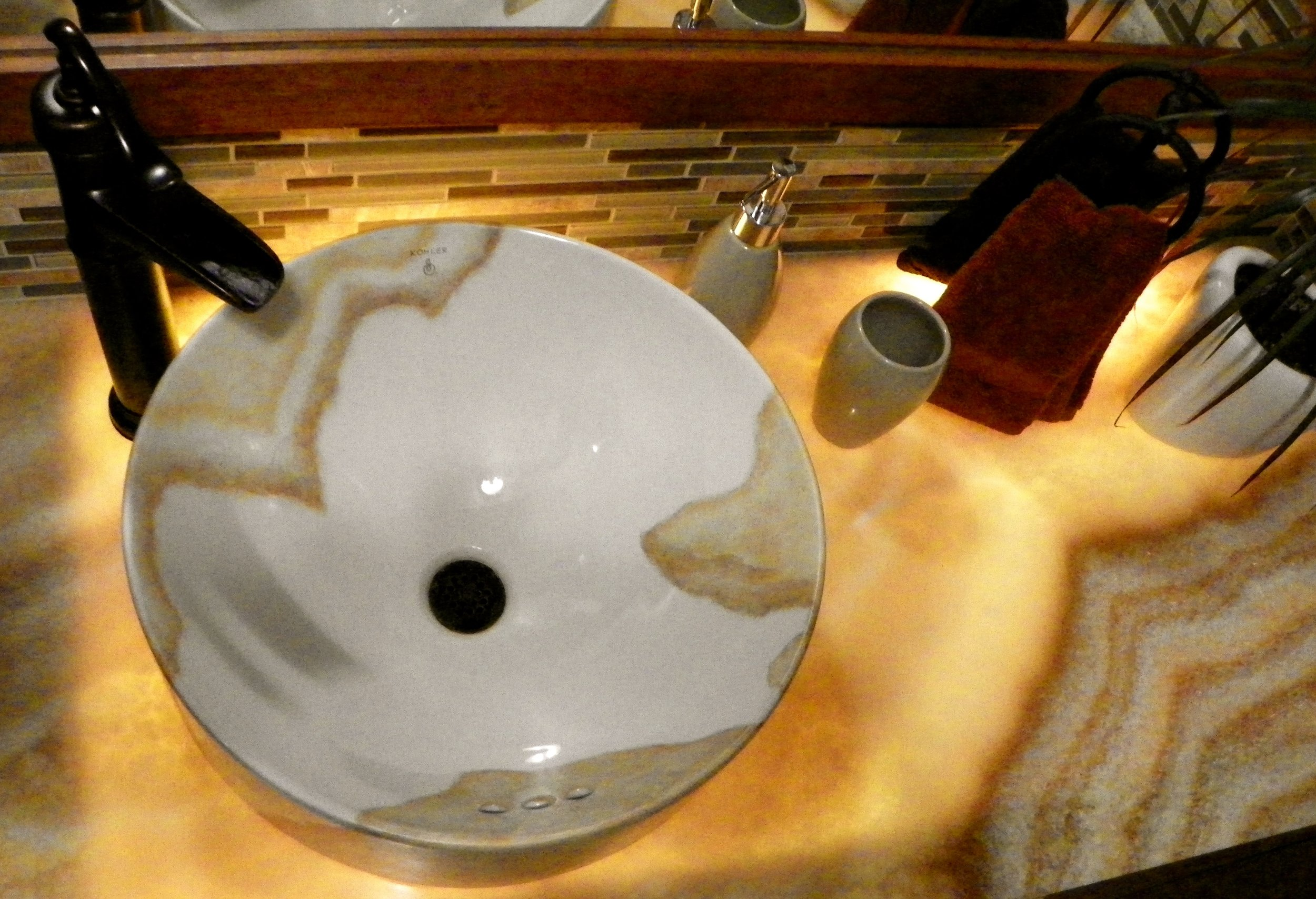"""Art immitates Nature"" vessel sink"