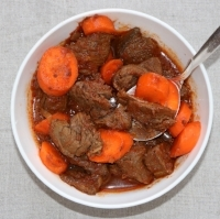 african beef stew bowl