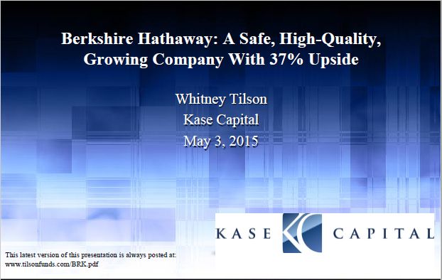 Whitney Tilson is the founder and Managing Partner of Kase Capital Management, which manages three value-oriented hedge funds.