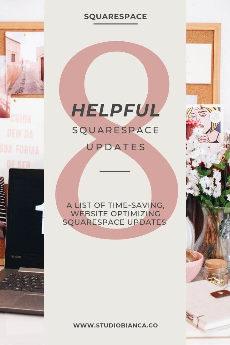 Creative entrepreneurs and small business owners, did you know that Squarespace offers monthly updates to their subscribers, free of charge? That's right, Squarespace improves its service, regularly, at no added cost to you, so step on in and take a look at all the time-saving, website-optimizing updates that have taken place so far this year! Read the post.