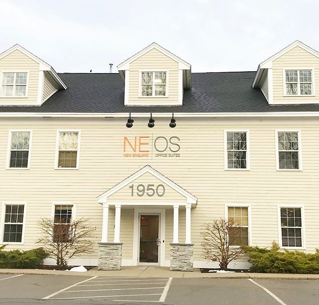 Logo and a signage designed for New England Office Suites in Portsmouth! #hatchyourprojects #logodesign #signdesign