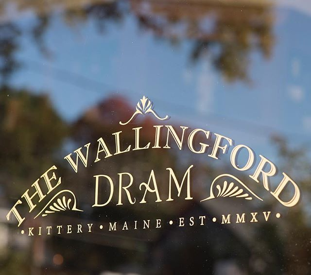 Gold window decal for @the_wallingford #logodesign #brandidentity #wallingfordsquare