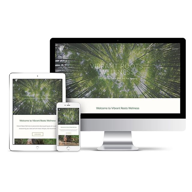 Website designed for Vibrant Roots Wellness www.vibrantrootswellness.com @vibrantroots  #websitedesign #wellness #nutrition #graphicdesign #hatchyourprojects