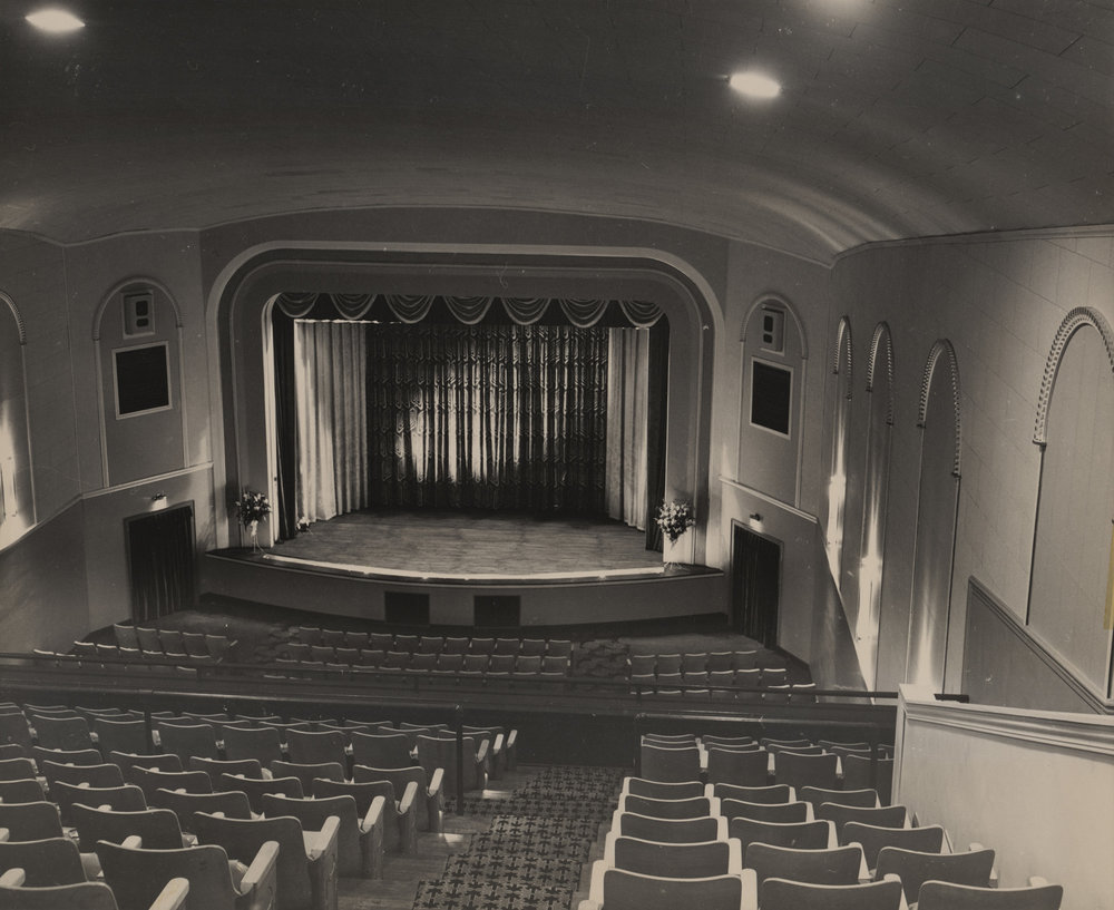 The Appalachian Theatre following its 1950 post-fire renovation. Image courtesy of C. J. and Pauline Hayes.