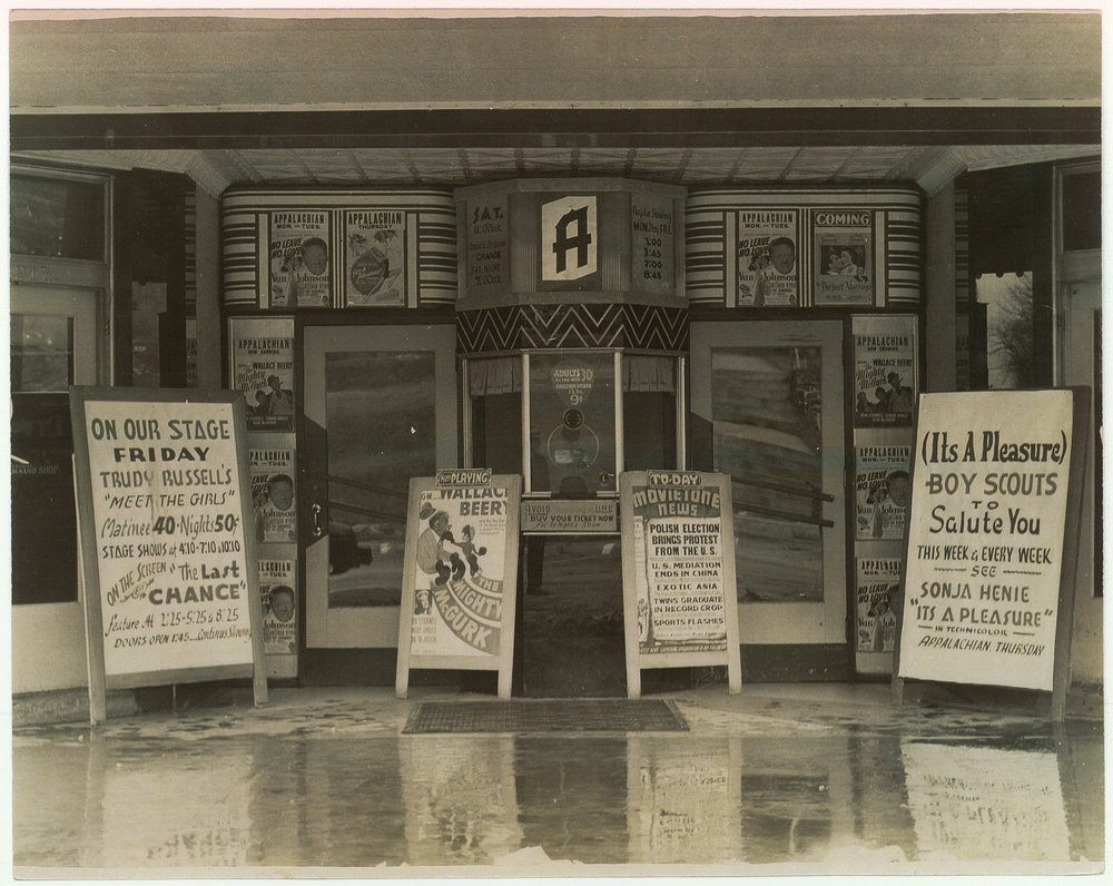 AT Entrance & Ticket Booth, Feb. 12, 1947