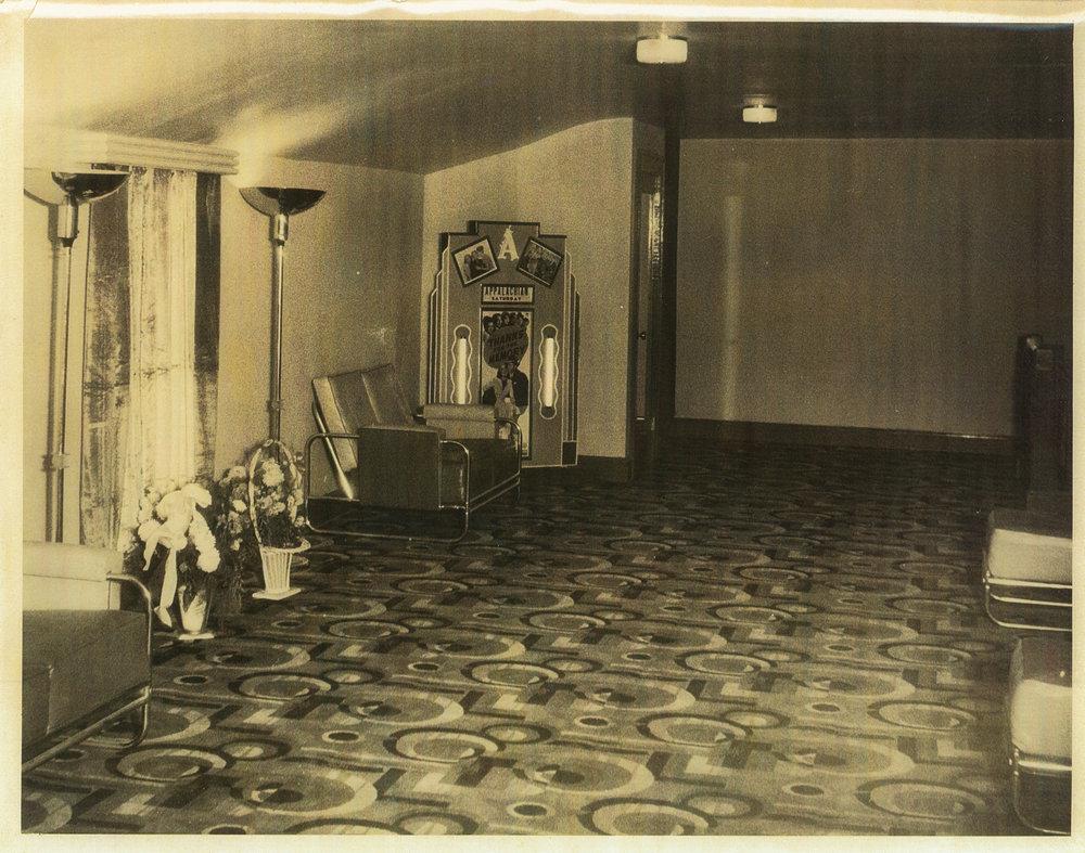 Appalachian Theatre Mezzanine, 1938