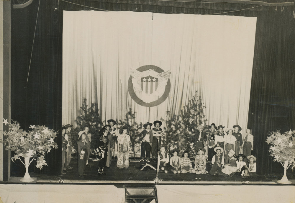 Boone-area children perform on the Appalachian Theatre stage circa 1944. Photo by Palmer Blair. Image courtesy of Patsy Whitman and Sarah Lynn Spencer.