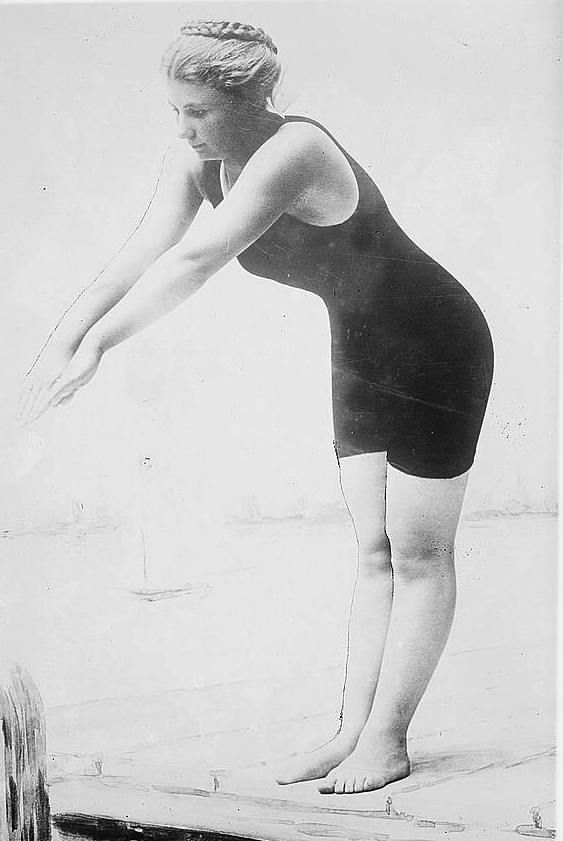 Rose Pitonof - First female finisher of the Boston Light Swim
