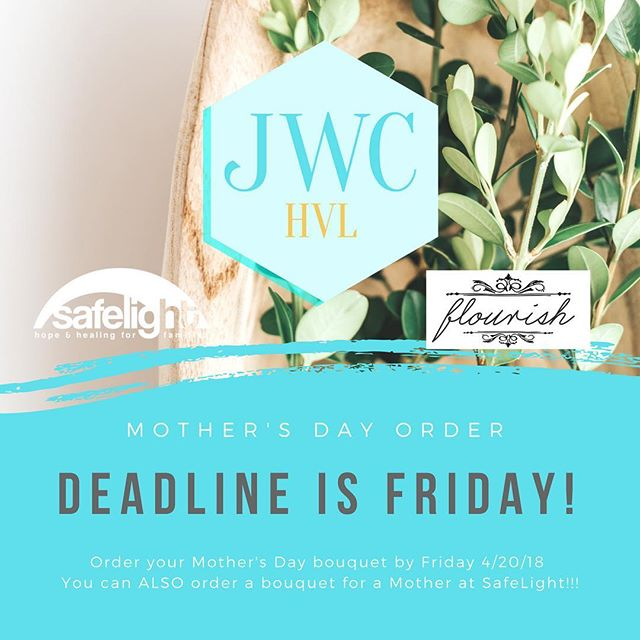 This Friday is the deadline to secure your Mother's Day bouquets benefitting Safelight! We're so excited to share @flourishflowerfarm and her gorgeous floral creations with you! Get them before time is up, order online! Link in bio!