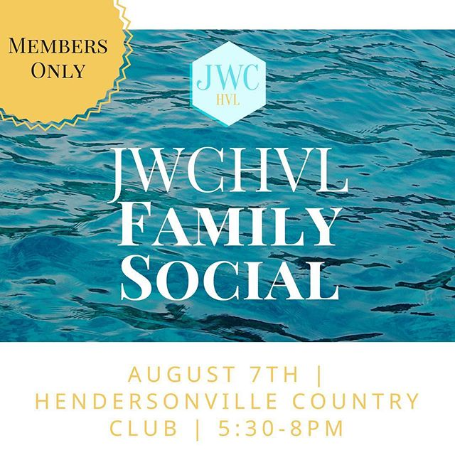 We are so excited about our 2018 Family Social! Bring your bathing suits, towels and all of your excitement! August 7th from 5:30-8PM at the Hendersonville Country Club. Members only 😎