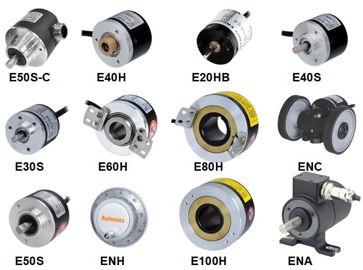 Rotative encoders.