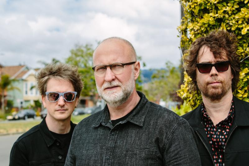 Bob Mould, center, with bassist Jason Narducy (left) and drummer Jon Wurster. Photo by Alicia J. Rose.