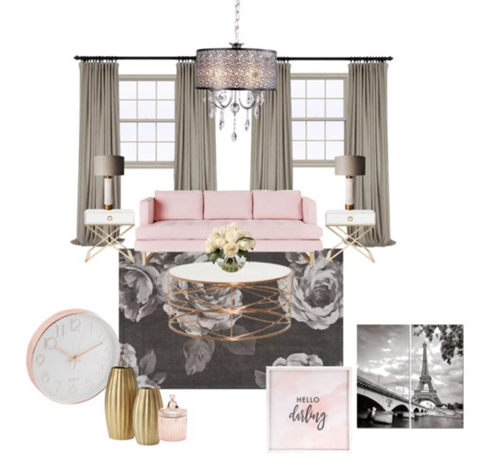 Feminine Parisian Style Living Room.JPG