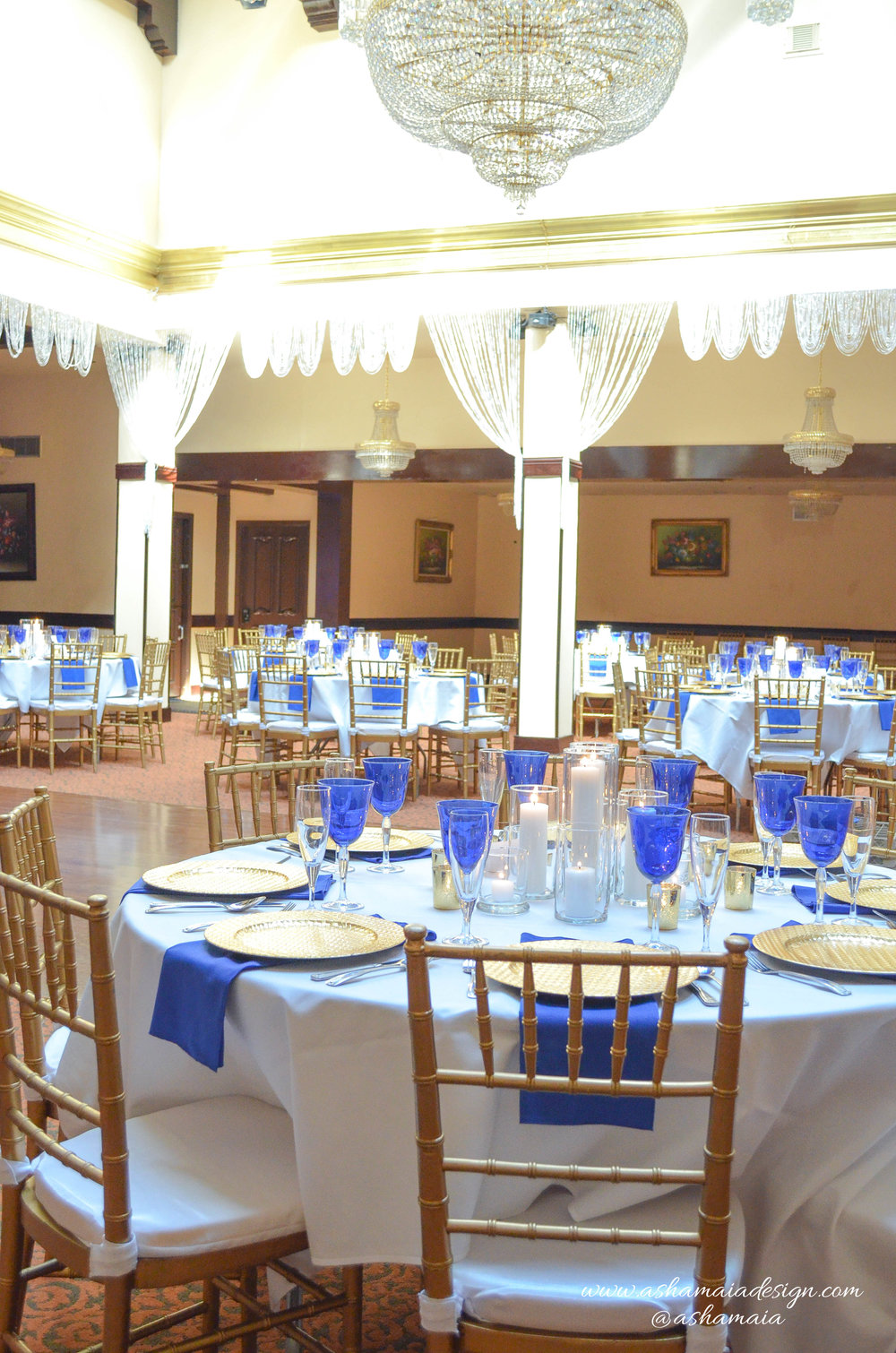 Blue White & Gold Wedding Reception-5.jpg