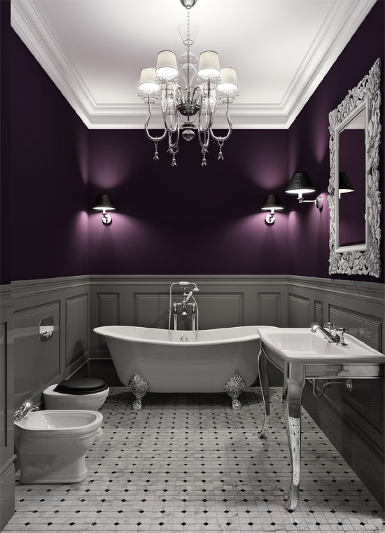 7 tips for picking the perfect paint color purple bathroom.jpg