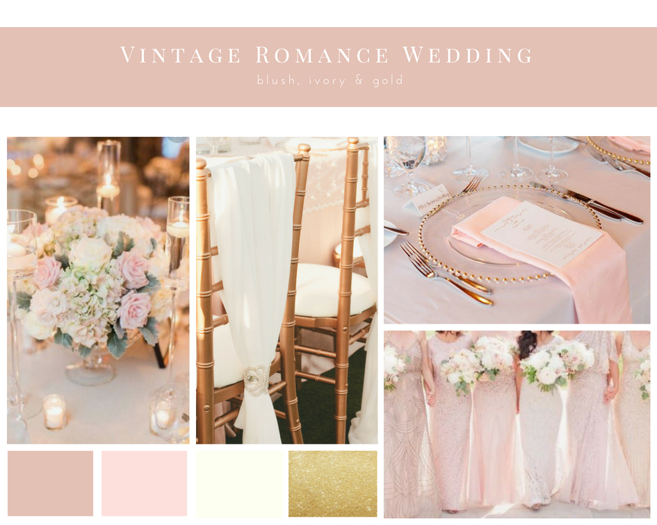 Vintage Romance Wedding Mood Board