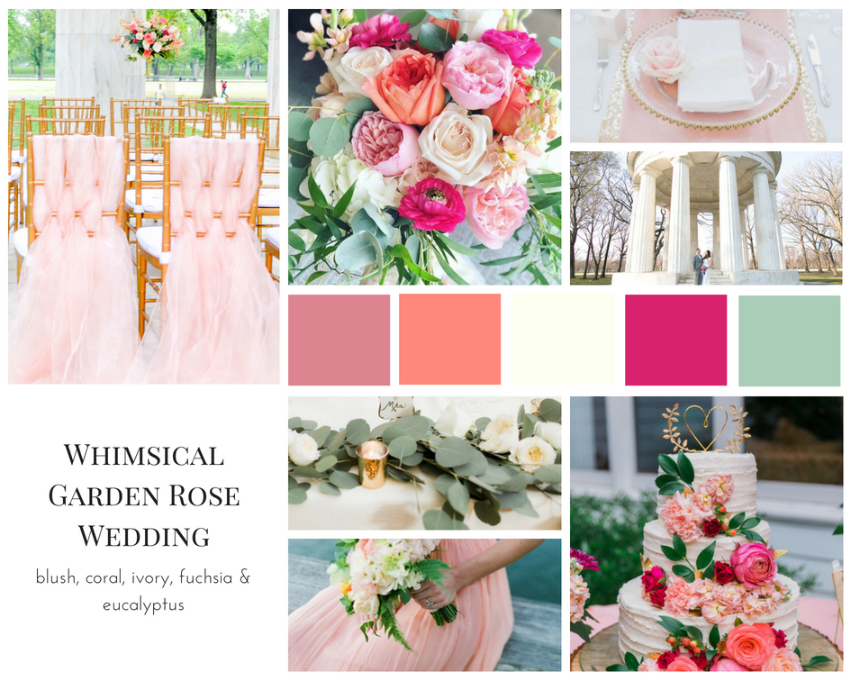 Whimsical Garden Rose Wedding Mood Board