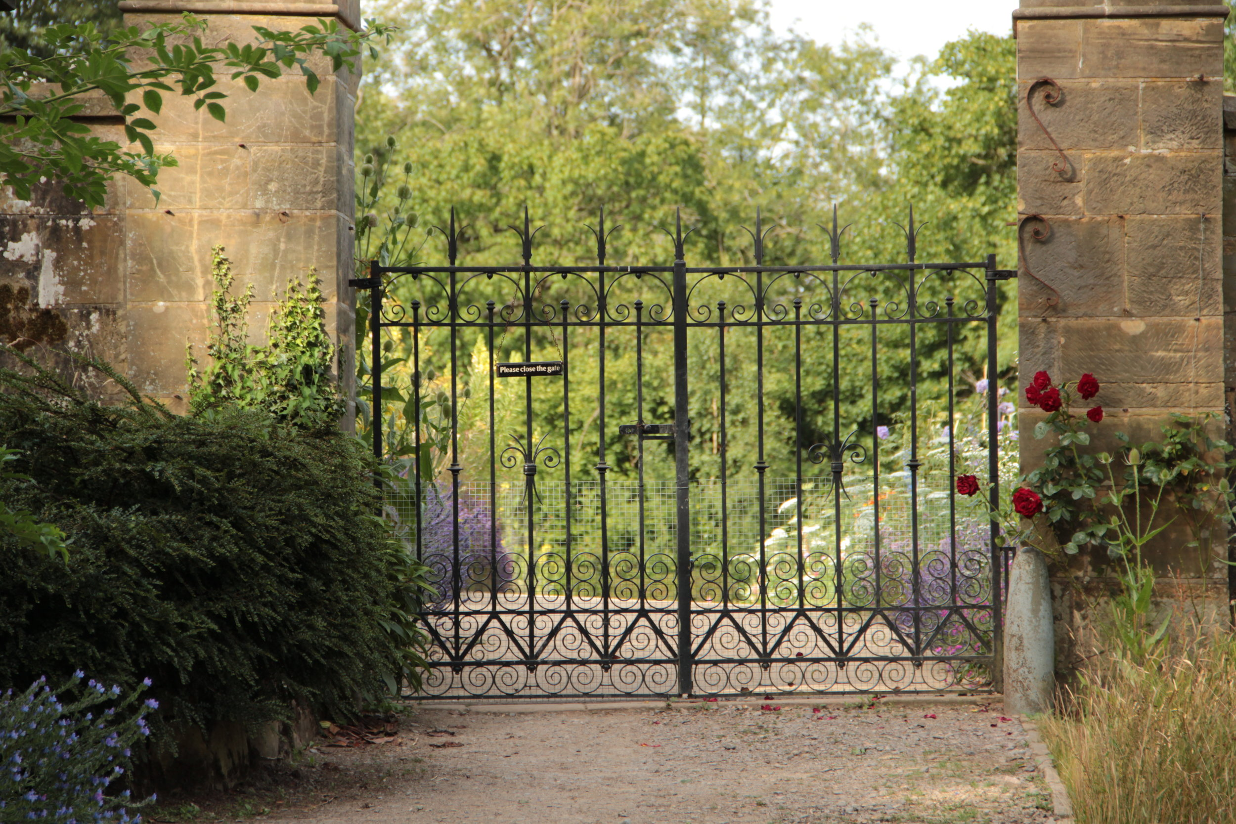 Gravetye Kitchen garden gate