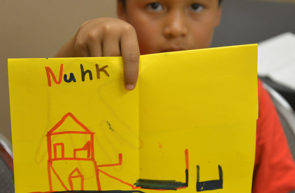 Tribal youth envisioning new housing for their community.
