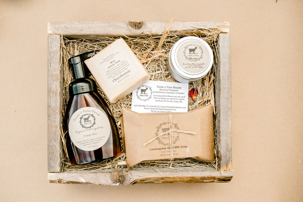 - We offer natural and organic solutions for your face, body, babes and Home.  We keep our footprint small by using recycled kraft paper,boxes & labels, our bottles and jars are recyclable and many of our pouches are biodegradable and compostable.  Just clean out our candle jars or tins and re purpose to store bathroom and kitchen items.  Save the twine on many of our products to use in the kitchen or garage.  We think big when it comes to the environment.  Our candle wax and wicks are Eco, made in the USA and create a cleaner burn for inside your home.  So please take a look at our offerings.  We are sure you will find something to try!