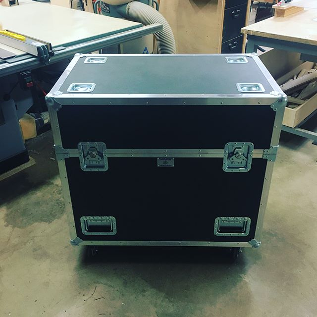 We recently built four cases to house our brand new Martin MAC Axiom Hybrid fixtures. The fixtures were delivered in their SIP foam inlays and all we had to do was build a shell and bam that's that! • • • #MadeBySlam #Slamhammer #gear #case #roadcase #flightcase #live #event #production #music #industry #backstage #mpls #mn #electronics #workshop #woodshop #wood #woodwork #woodworking #photography #videography #picoftheday #photooftheday #madebyhands #martin #axiomhybrid #light #fixtures #LD
