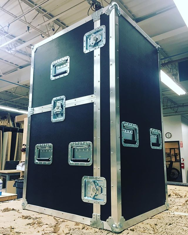 New printer workbox for a local client! Shell is finished now time to tackle the interior build. • • • #MadeBySlam #Slamhammer #gear #case #roadcase #flightcase #live #event #production #music #industry #backstage #mpls #mn #electronics #workshop #woodshop #wood #woodwork #woodworking #photography #videography #picoftheday #photooftheday #madebyhands #workbox #printer #custom #bespoke
