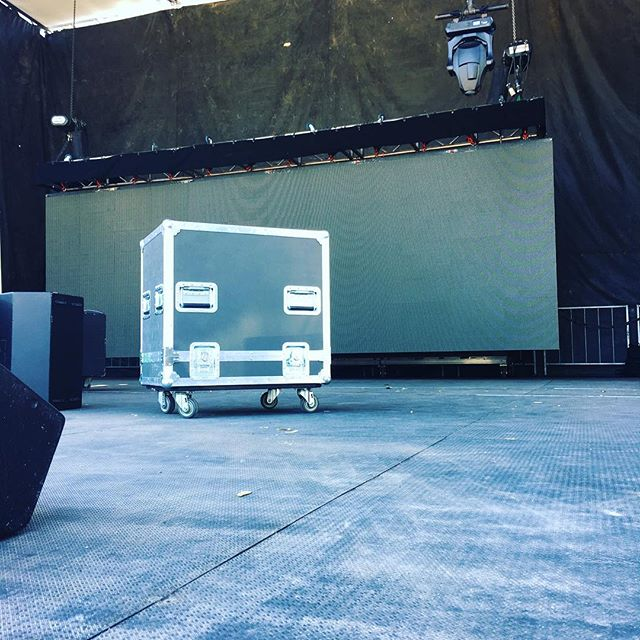 Out here setting up for @soundset 2018 and had to snag a shot of one of our cases in its natural habitat! Everything is going down tomorrow, see you at Soundset! • • • #MadeBySlam #Slamhammer #gear #case #roadcase #flightcase #live #event #production #music #industry #backstage #mpls #mn #electronics #workshop #woodshop #wood #woodwork #photography #videography #picoftheday #madebyhands #soundset #soundset2018 #rhymesayers #music #festival #rap #hiphop