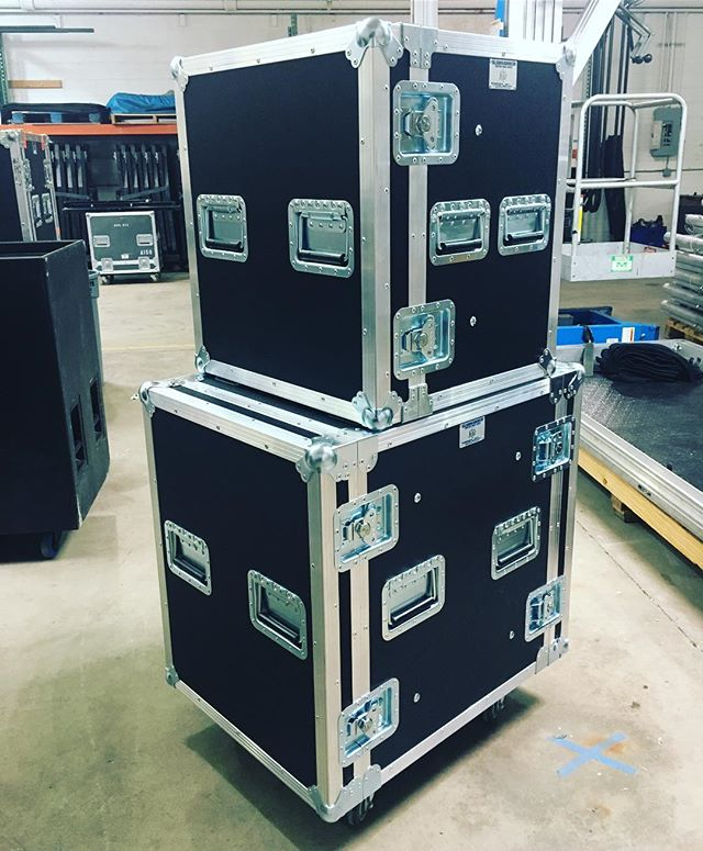Some brand new amp racks for @atmosphere • • • #MadeBySlam #Slamhammer #gear #case #roadcase #flightcase #live #event #production #music #industry #backstage #mpls #mn #electronics #workshop #woodshop #wood #woodwork #woodworking #photography #videography #picoftheday #photooftheday #madebyhands #amp #racks
