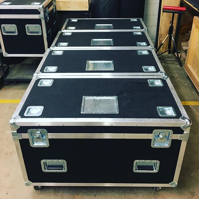Pushing out some quarter pack trunks for a local client! • • • #MadeBySlam #Slamhammer #gear #case #roadcase #flightcase #live #event #production #music #industry #backstage #mpls #mn #electronics #workshop #woodshop #wood #woodwork #woodworking #photography #videography #picoftheday #photooftheday #madebyhands #trunks