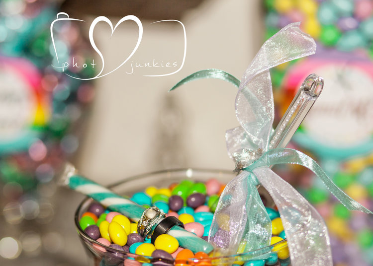 A sweet sweet wedding! Loved all the bright little details and candy bar theme! Perfect for that ring shot!