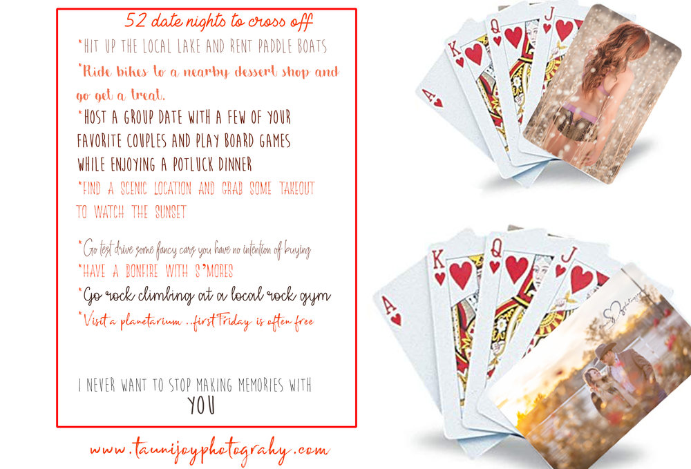 SAMPLE OF SOME OF THE CUTE DATE NIGHT IDEAS! AND CARDS!