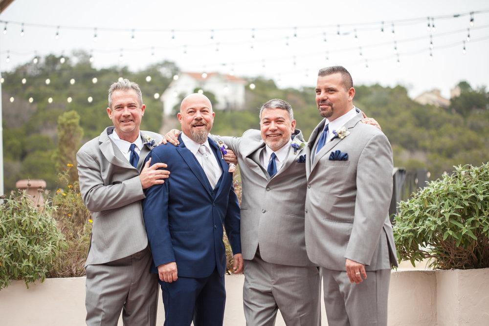 Groomsman Texas wedding