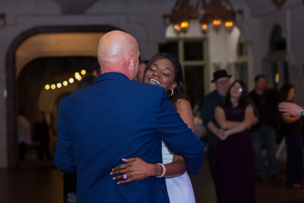 The night ended with a first dance , but accompanied by all their loved ones.