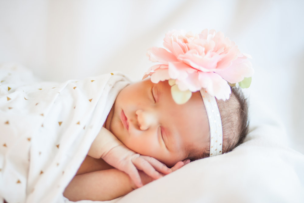 Newborn baby girl - not sure there is anything sweeter.