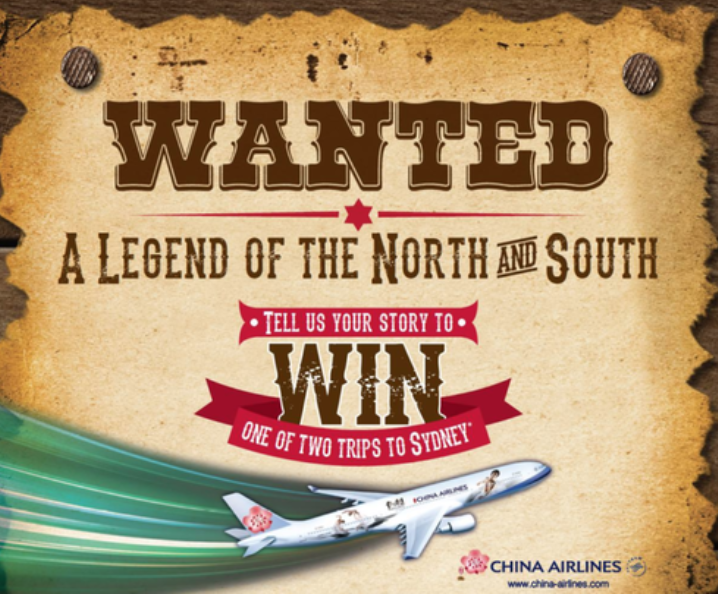 WIN one of TWO trips to Sydney with GAS and China Airlines. This promotion has now ended.