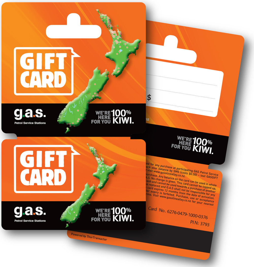 GAS GIFT CARD - With the GAS Gift Card, you can give the gift of freedom to choose!The GAS Gift Card is available at participating GAS Petrol Service Stations or you can buy online BUY ONLINE