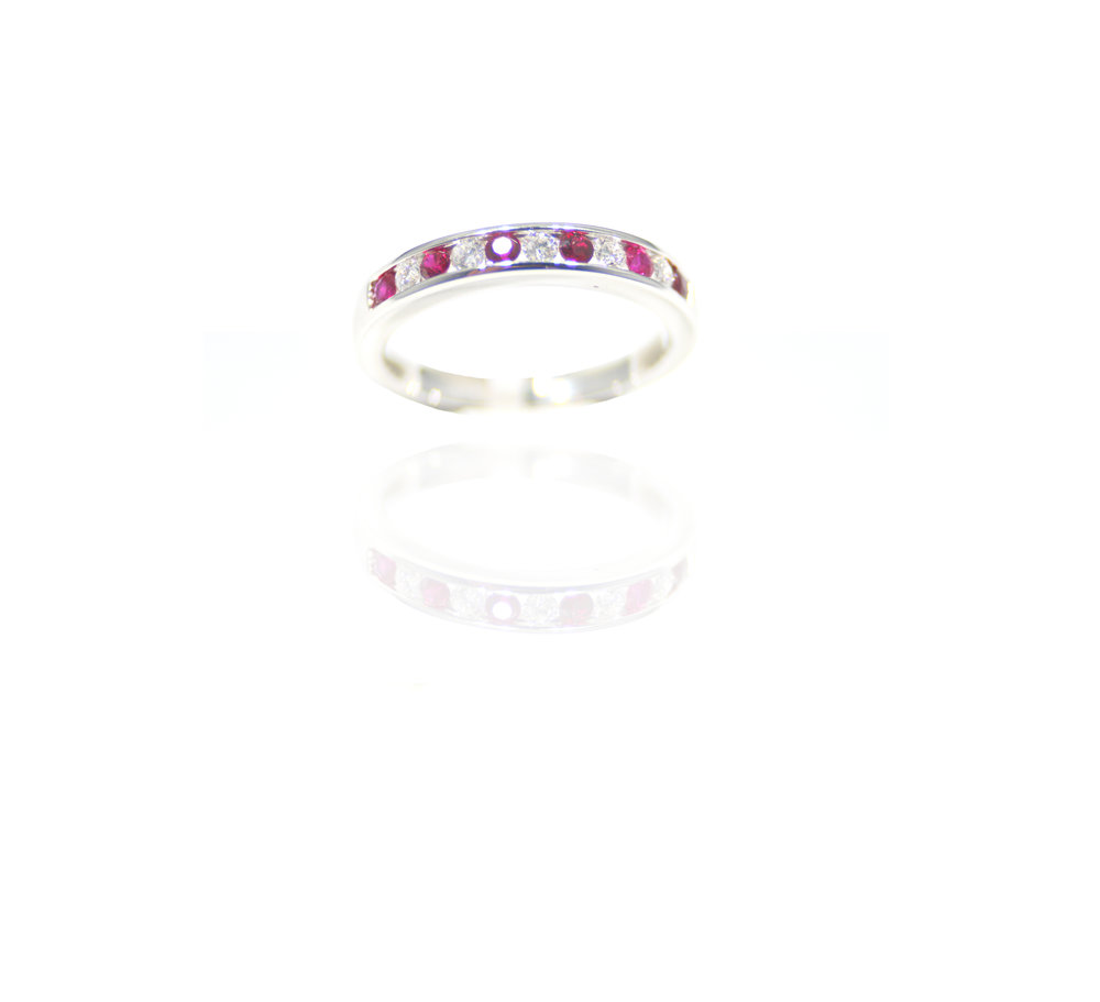 Ruby and white gold ring!