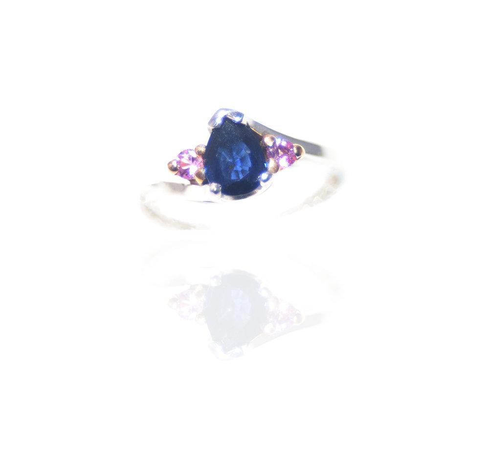 Sapphire and tourmaline ring!