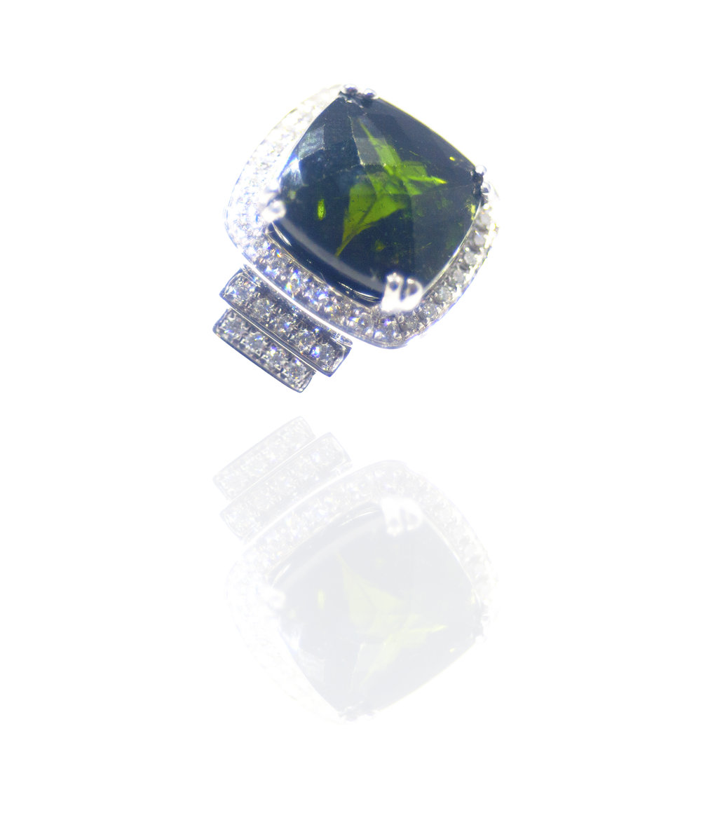 Tourmaline diamond ring!